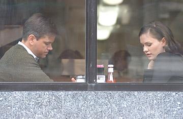 Matt Damon and Anna Paquin