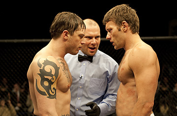 Tom Hardy and Joel Edgerton in Warrior