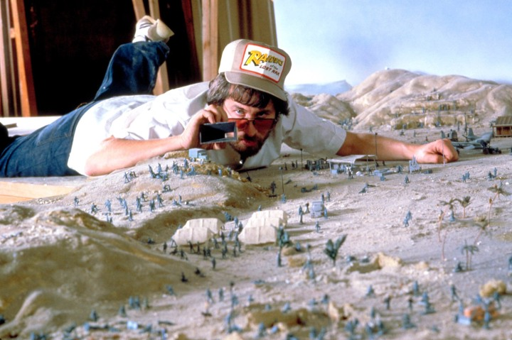 Spielberg on the set of Raiders of the Lost Ark
