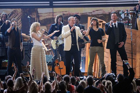Band Perry, Blake Shelton and Glenn Campbell, Grammys 2012