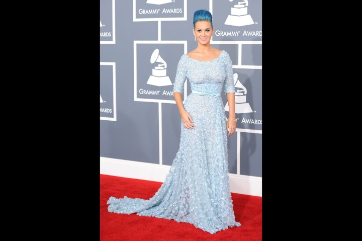 Katy Perry Makes Head-to-Toe Blue Work