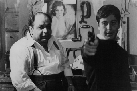 Clemenza and Michael in The Godfather