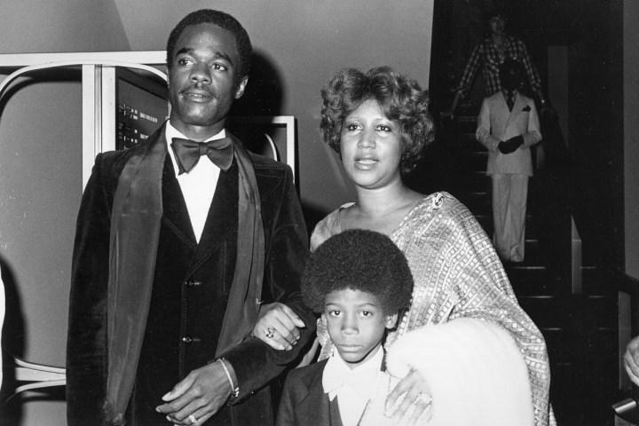 Franklin with Glynn Turman and son