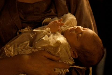 A Newborn Sofia Coppola in The Godfather