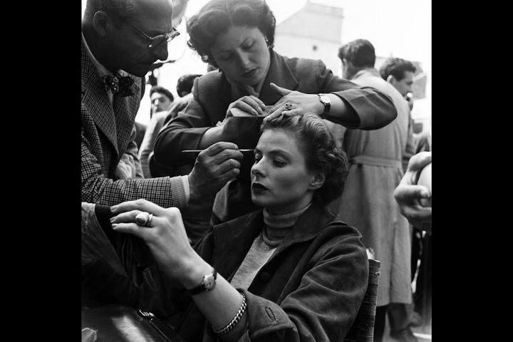 Ingrid Bergman Getting Her Hair and Makeup Done