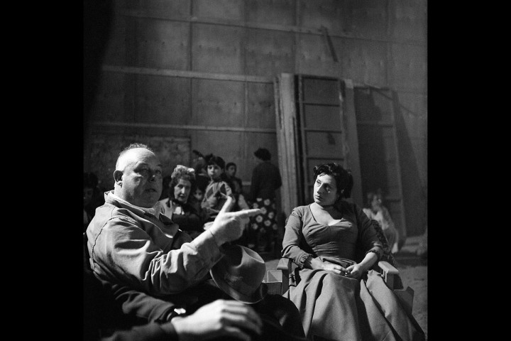 Jean Renoir on the Set of The Golden Coach