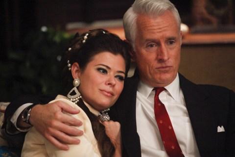 Jane Sterling (Peyton List) and Roger Sterling (John Slattery) - Mad Men - Season 5, Episode 6