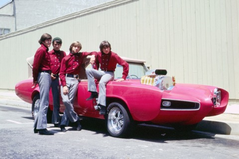 The Monkees in Front of Car