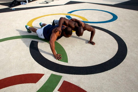 UK - The Olympic Mile - Working out in a new Adizone