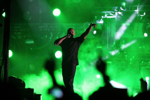 Dr. Dre performs at 2012 Coachella Valley Music and Arts Festival in Indio