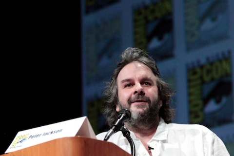 "Jackson speaks during a panel for ""The Hobbit: An Unexpected Journey"" during Comic Con International convention in San Diego"