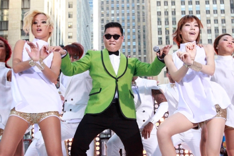 "Korean rapper-singer Psy performs on NBC's ""Today"" show in New York City"