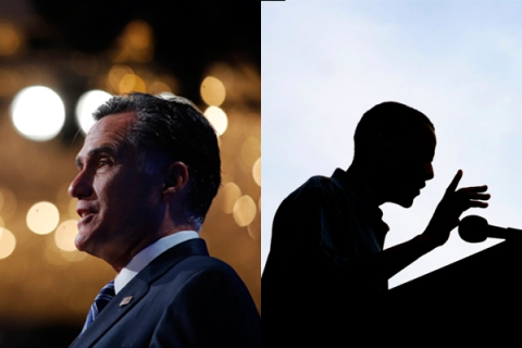 Mitt Romney and President Barack Obama