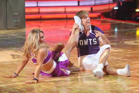 """Image: Shawn Johnson and Derek Hough on 'Dancing With the Stars: All-Stars,"""" Oct. 22, 2012."""