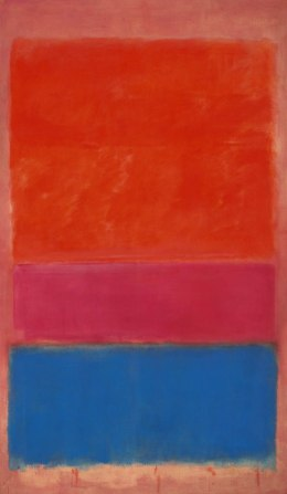 image: Mark Rothko's painting No 1 was sold by Sotheby's New York during a contemporary art evening sale for 75,122,500 US dollar. The price far exceeded from the pre-sale estimated price of 35,000,000 - 50,000,000 US dollars.