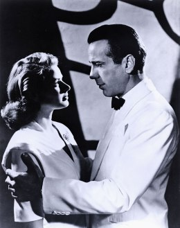 image: Humphrey Bogart and Ingrid Bergman in a scene from 'Casablanca'