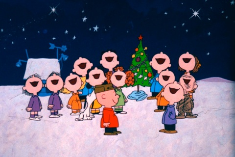 Image: The Peanuts Gang Rejoices in the True Spirit of Christmas