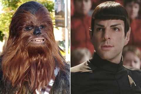 image: Chewbacca and Spock from Star Wars and Star Treck, respectively