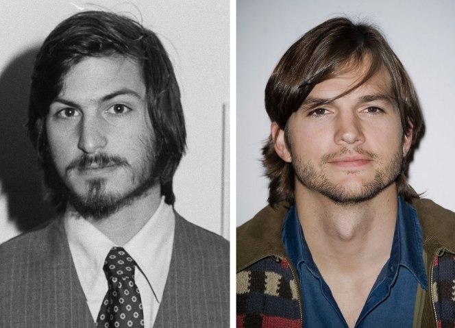 Steve Jobs and Ashton Kutcher