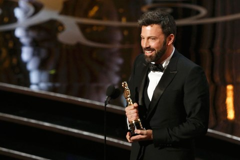 Ben Affleck accepts the Oscar for Best Picture for Argo