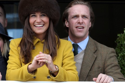 Pippa Middleton and Tom Kingston on March 14, 2013 in Cheltenham, England.