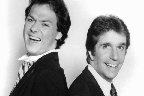 Michael Keaton And Henry Winkler In 'Night Shift'