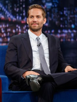 Paul Walker films Late Night with Jimmy Fallon in New York City, on May 24, 2013.