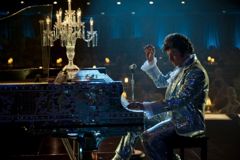 """Michael Douglas as Liberace in the HBO film """"Behind the Candelabra"""""""