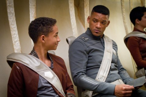"""Jaden Smith, left, and WIll Smith star in Columbia Pictures' """"After Earth."""""""