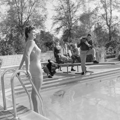 A never-before-published image of competitive swimmer and MGM movie star Esther Williams.