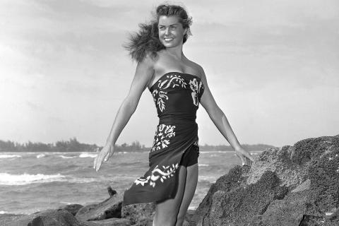 "Esther Williams on location for the film ""Pagan Love Song, in May 1950."