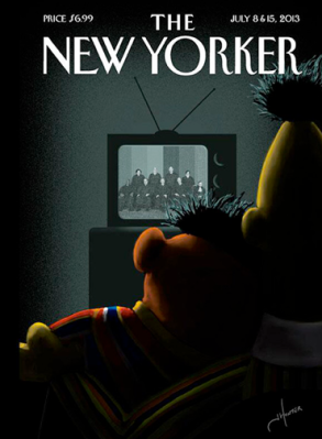 New Yorker cover - Bert and Ernie