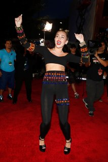 Miley Cyrus arrives at the 2013 MTV VMA Awards red carpet at the Barclay's Center in Brooklyn, N.Y., on Aug. 25, 2013.
