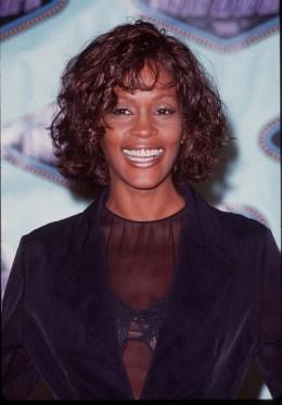 Whitney Houston at the 1996 MTV Movie Awards.