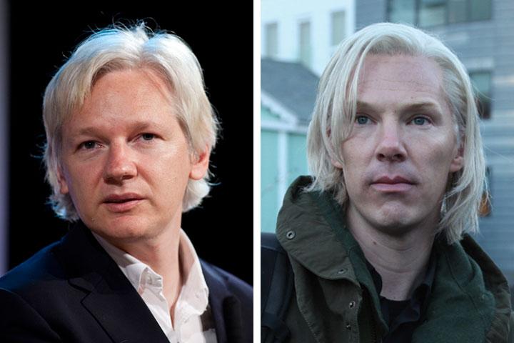 Julian Assange and Benedict Cumberbatch