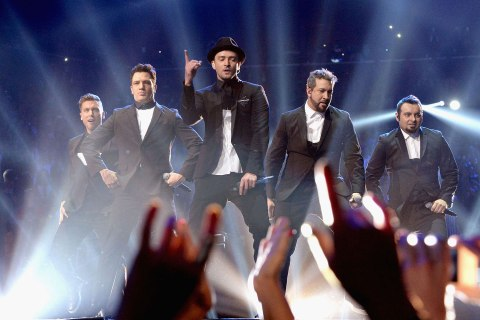 'NSYNC performs during the 2013 MTV Video Music Awards at the Barclays Center in Brooklyn, N.Y., on Aug. 25, 2013.