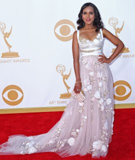 Kerry Washington arrives at the 65th Annual Primetime Emmy Awards arrivals held at Nokia Theatre L.A. Live in Los Angeles, on Sept. 22, 2013.