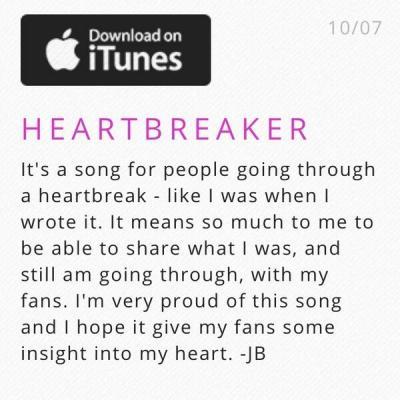 Bieber hearbreaker tweet