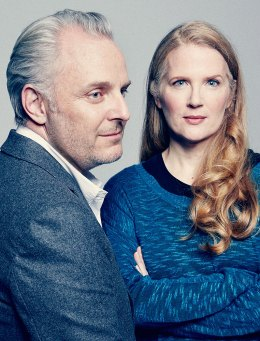 Francis Lawrence, director of The Hunger Games: Catching Fire and Suzanne Collins, author of The Hunger Games Trilogy