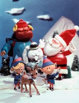 Hermey, Rudolph, Head Elf, Yukon Cornelius, Sam the Snowman, Santa Claus in 'Rudolph the Red-Nosed Reindeer'