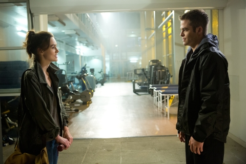 "From left: Keira Knightley and Chris Pine in ""Jack Ryan: Shadow Recruit""."