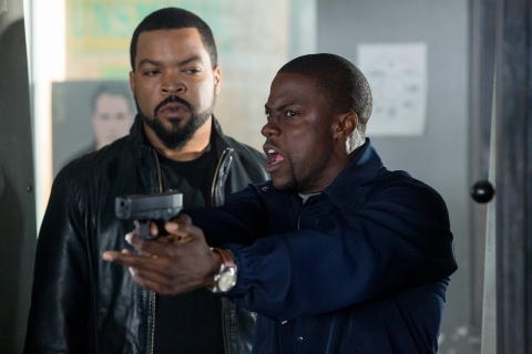 "From left: Ice Cube and Kevin Hart in ""Ride Along."""