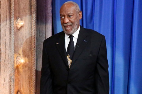 Bill Cosby appears on Late Night with Jimmy Fallon in November, 2013.