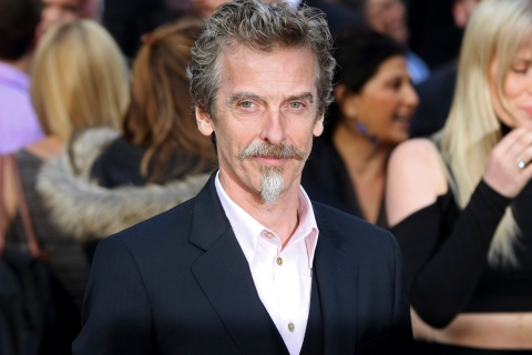 "Scottish actor Peter Capaldi arrives for the world premiere of his film ""World War Z"" in London"