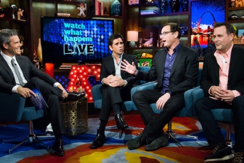 John Stamos, Bob Saget, Dave Coulier, Andy Cohen