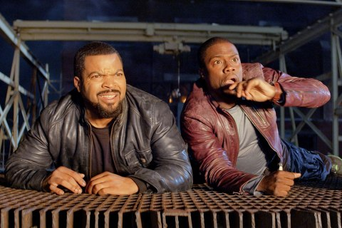 "Ice Cube, left, and Kevin Hart in a scene from ""Ride Along"""