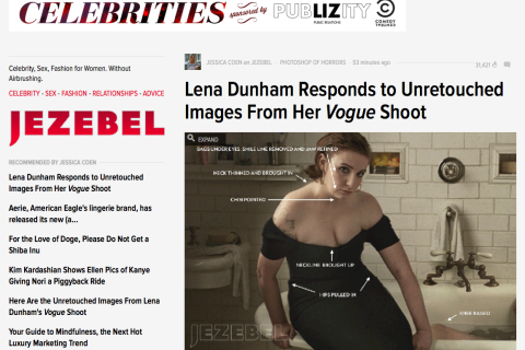 Lena Dunham Vogue Photo Jezebel