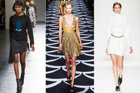 Runway shows at Opening Ceremony, DVF, and Victoria Beckham.