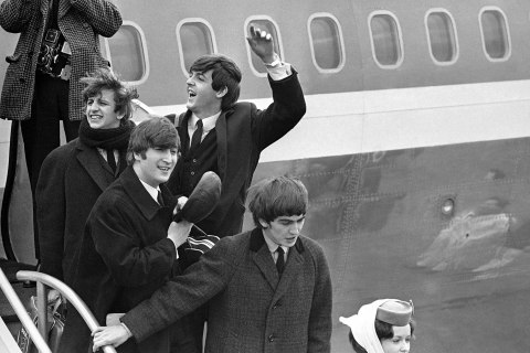 Beatles Land in JFK