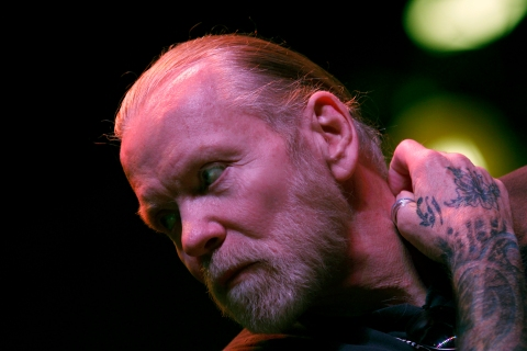 Musician Gregg Allman of The Allman Brothers Band attends a news conference to announce a concert run by his band at New York's Beacon Theatre